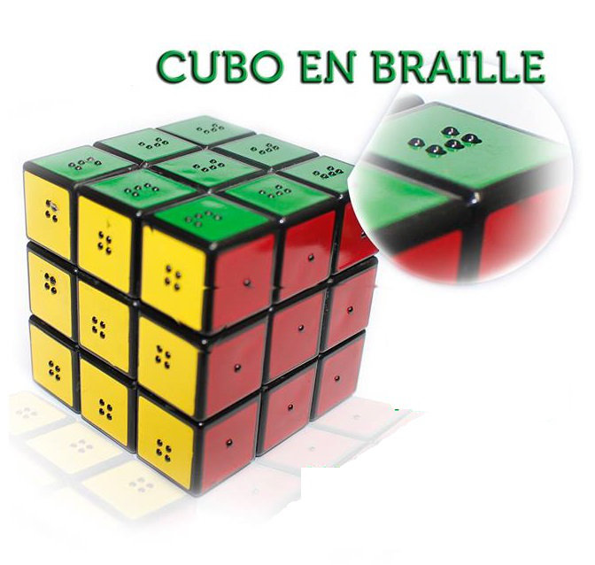 Cubo Rubik e Braille